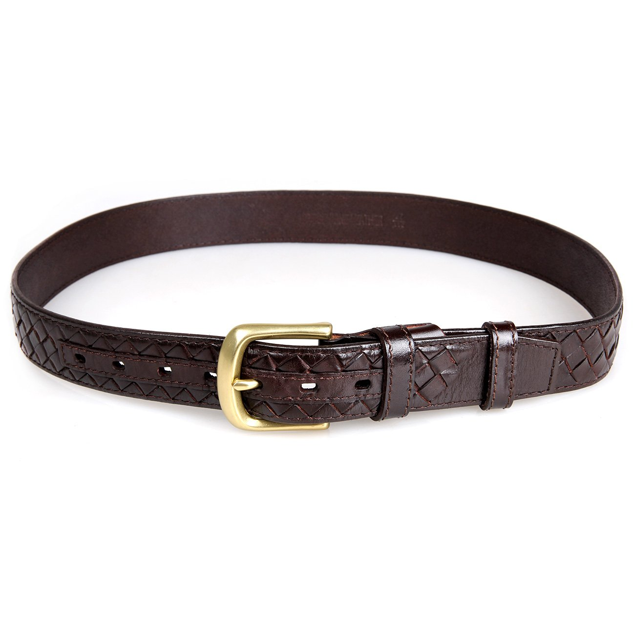 Genda 2Archer Fashion Weave Style Men Vegetable Leather Belt With Making-hole Machine