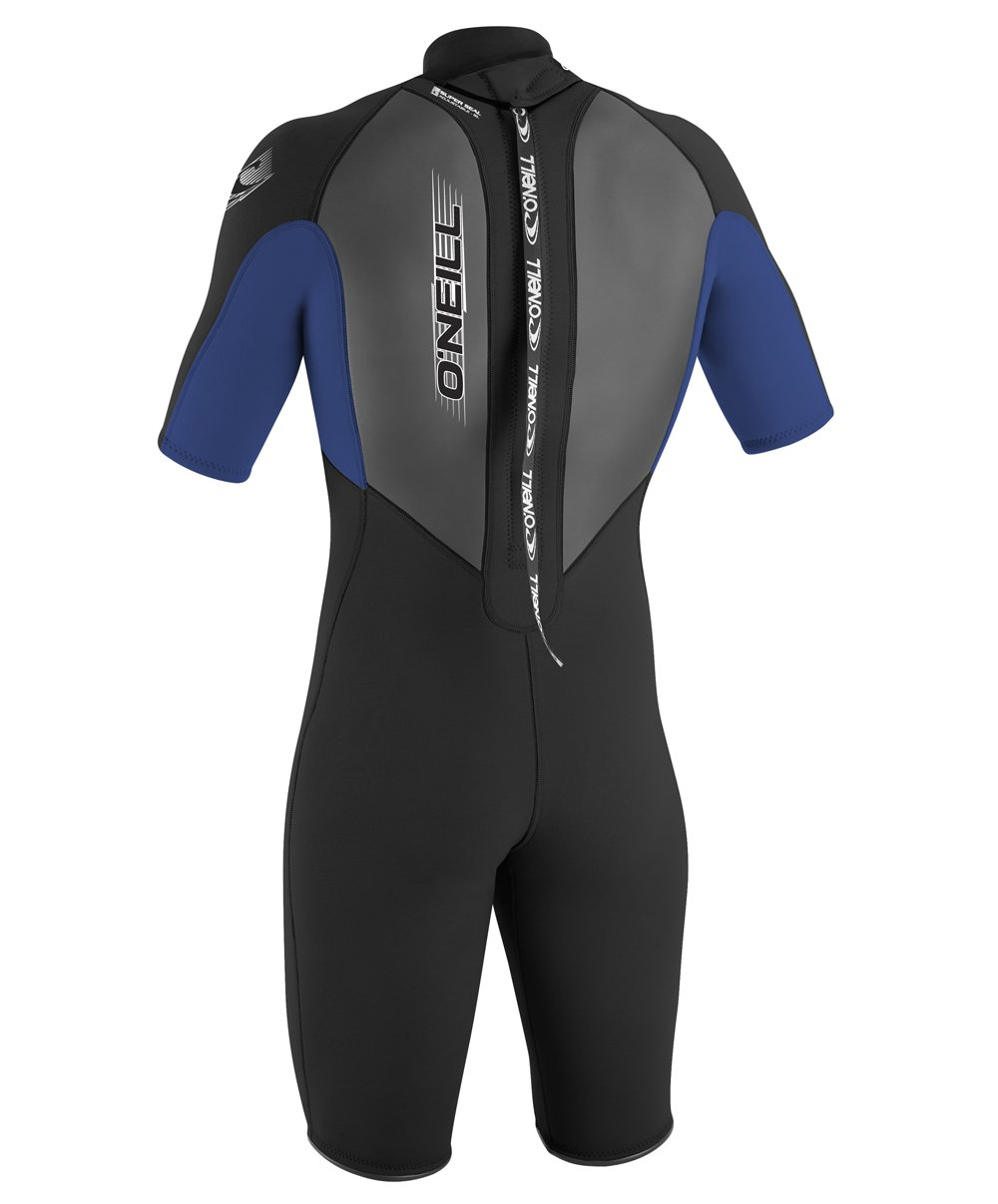 O'Neill Youth Reactor 2mm Back Zip Spring Wetsuit, Black/Pacific/Black, 4 by O'Neill Wetsuits (Image #3)