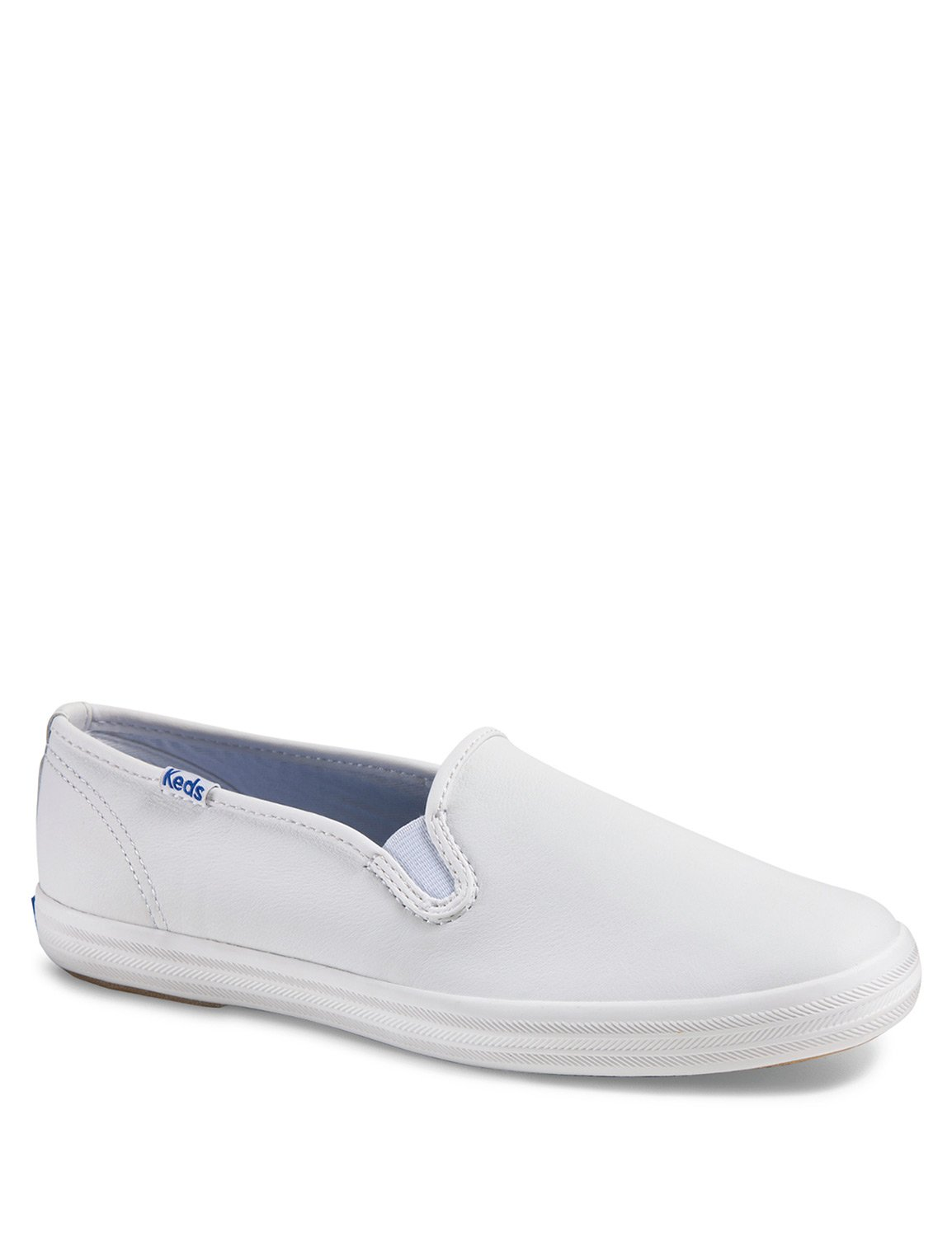 07440b741ad96 KEDS Women s Champion Core Slip Leather Slip Ons White in Size US 7 M   Amazon.com.au  Fashion