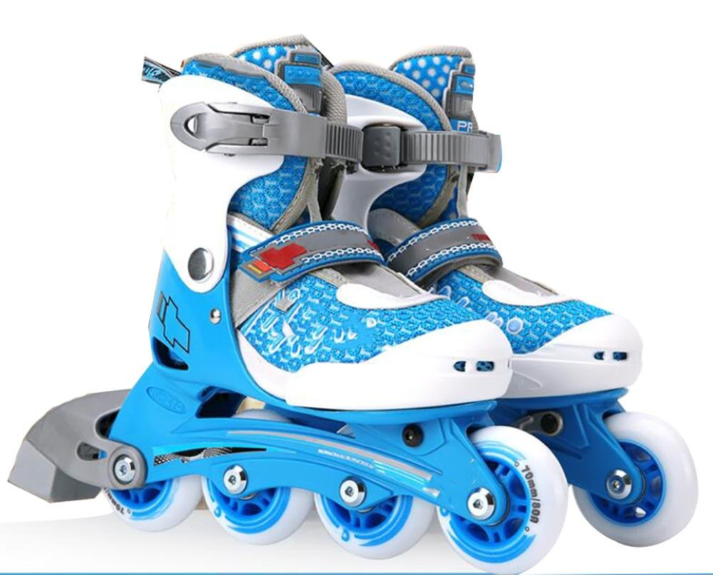 Inline Skates Adjustable PVE Fabric MAX FIT memory liner Blue , L , blue by WY