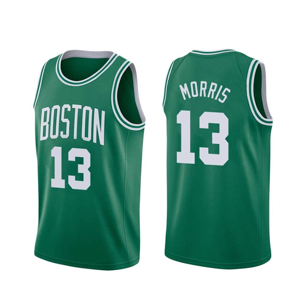 vert(A) XXL Marcus Morris   13 Basketball Masculin Jersey - NBA Boston Celtics Swinghomme Sport Maillots T-Shirt