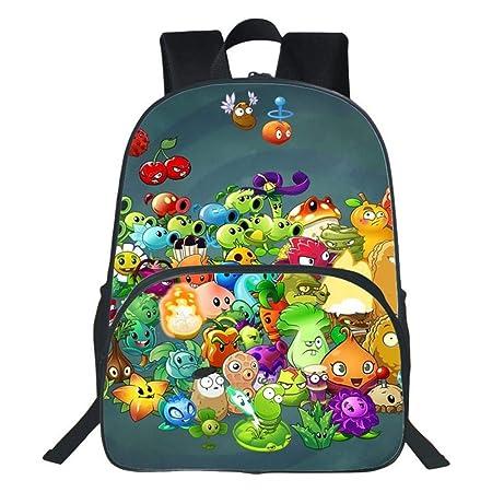 YXRL Mochila Infantil Plantas De Impresión 3D Vs. Zombies Cartoon Primary School Bag Boy Girl Mochila De Viaje P