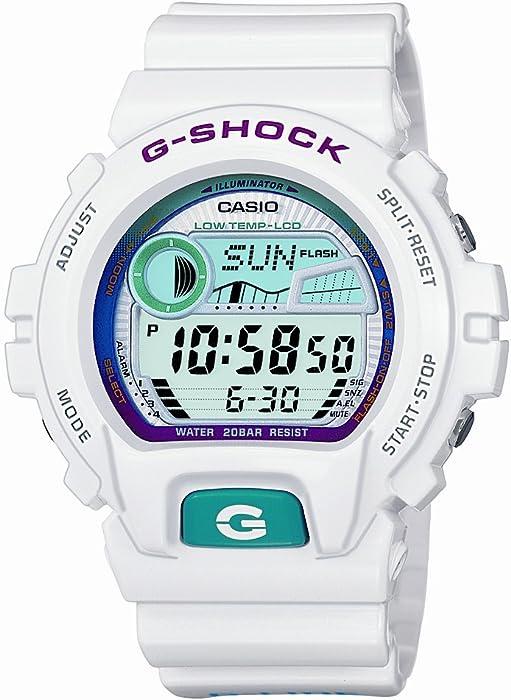 CASIO G-Shock GLX-6900-7ER - Reloj de Caballero de Cuarzo, Correa de Resina Color Blanco (con cronómetro, Alarma)