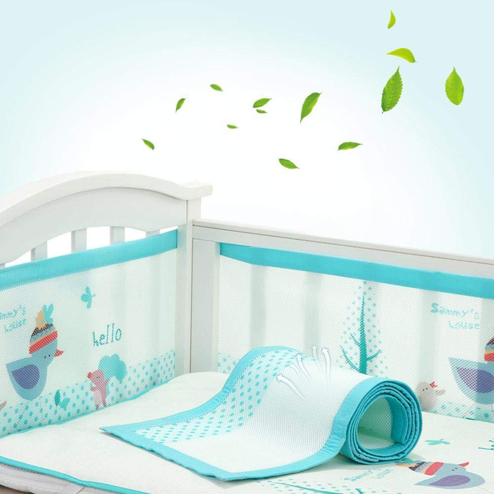 PER Baby Crib Liner Breathable Crib Bumper Mesh Liner Pad Mattress Safety Guard for Baby Cot Crib