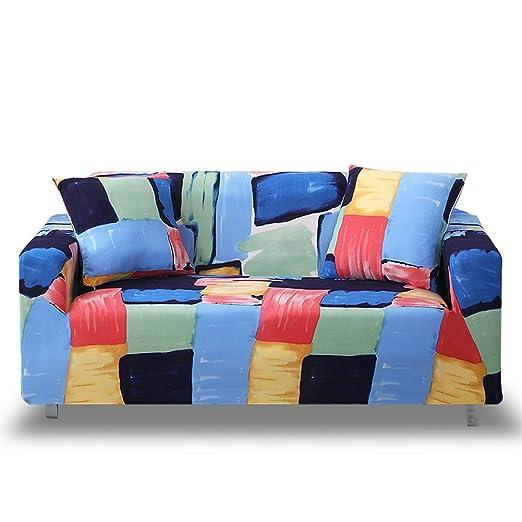 HOTNIU Funda Elástica de Sofá Funda Estampada para sofá Antideslizante Protector Cubierta de Muebles (4 Plazas, Impresión #SC)
