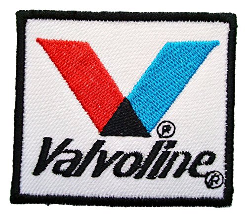 Valvoline Oil maxlife Lubricants Nascar Patch Sew Iron on Logo Embroidered Badge Sign Emblem Costume BY - T-shirt Nascar Embroidered