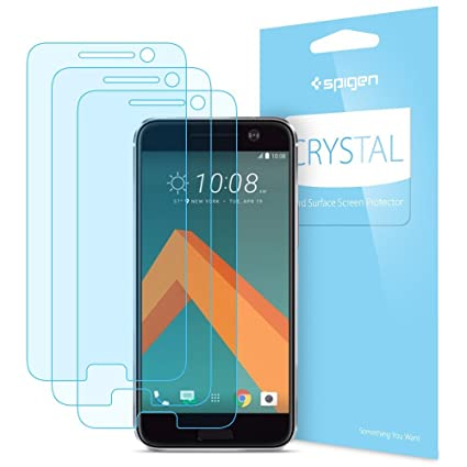 pretty nice 8f419 a3ad3 HTC 10 Screen Protector, Spigen® [3 pack] Crystal Film Premium Japanese  Base PET Film [Easy-Install Wing] Screen Protector for HTC 10 H09FL20271
