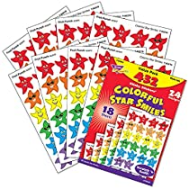 Trend Enterprises Colorful Star Smiles Variety Pack Stinky Stickers., 432/pkg (T-83904)
