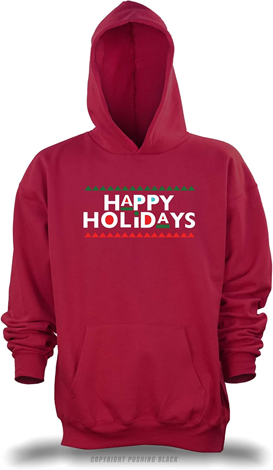 Happy Holidays Martin Style Unisex Pullover Hoodie