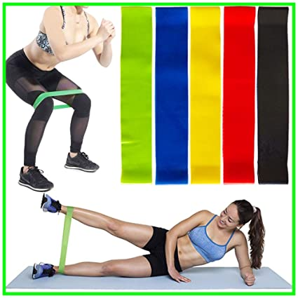 f6d37861fd4e Amazon.com   Resistance Loop Exercise Bands - Workout Bands for Home ...