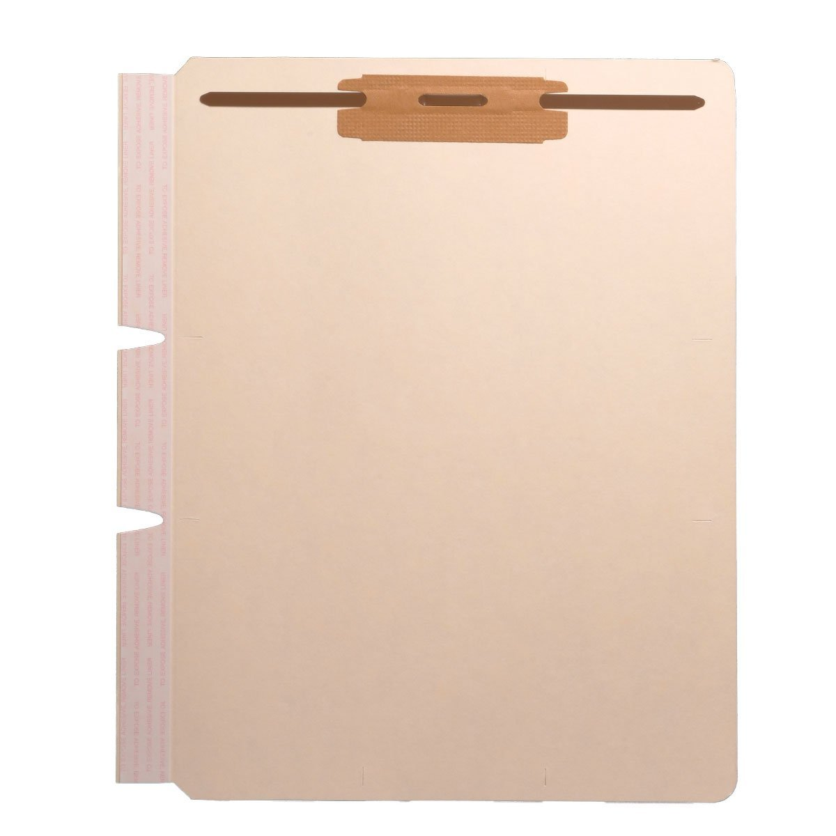 Self Adhesive Divider, Standard Side Flap, 2'' Fasteners on Top of Both Sides (Box of 100)