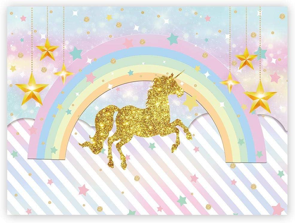 Unicorn Party Backdrops 8×6 Ft