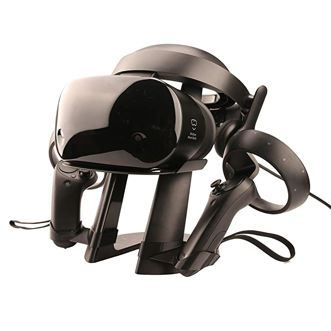 3d4db73a93ef Amazon.com  Esimen Samsung Hmd Odyssey+ Stand - Headset Display Stand for Samsung  Hmd Odyssey Virtual Reality Headset Storage Mount Holder  Cell Phones   ...