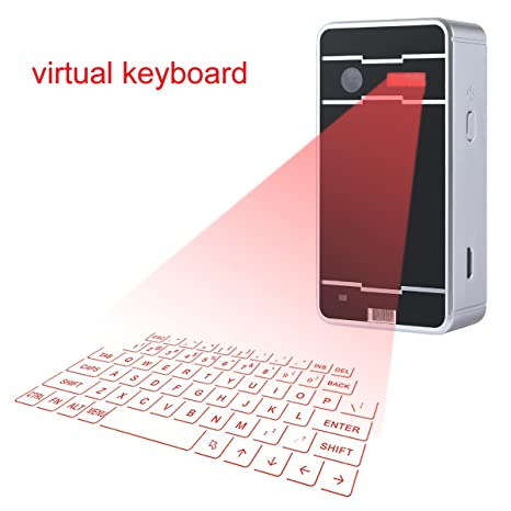 Mini Wireless Bluetooth Virtual Keyboard Cube Projection for iPhone Ipad Smartphone and Tablets Keyboards, Mice   Input Devices