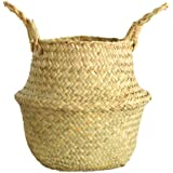 Wensltd Clearance! Seagrass Wicker Basket Wicker Basket Flower Pot Folding Basket Dirty Basket