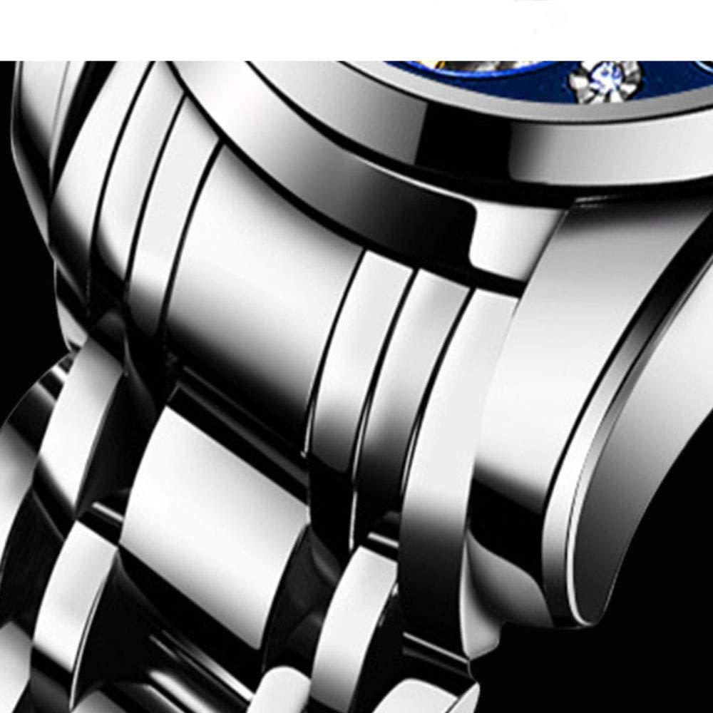 ZSTY Mekanisk klocka, diamantset Tourbillon skeletoniserad helt automatisk vattentät lysande klocka, lämplig för män, gyllene skal gyllene yta Golden Shell Golden Surface