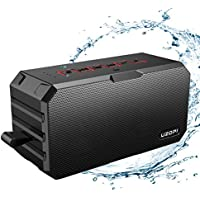 Outdoor Waterproof Bluetooth Speakers, UZOPI IP67 10W Portable Wireless Stereo Speakers with Enhanced Bass, Power Bank, Built-In Mic, Support TF Card, AUX Line-In, etc