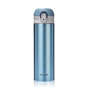 Amazon.com: DILLER Botella de agua aislada al vacío, termo ...