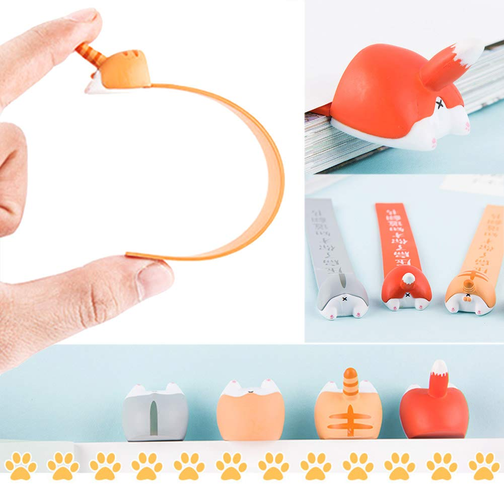Haushele OFD Lesezeichen Keji Ass Lesezeichen Creative Animal Ass Series Netter Student mit Anime-Lesezeichen Hamster
