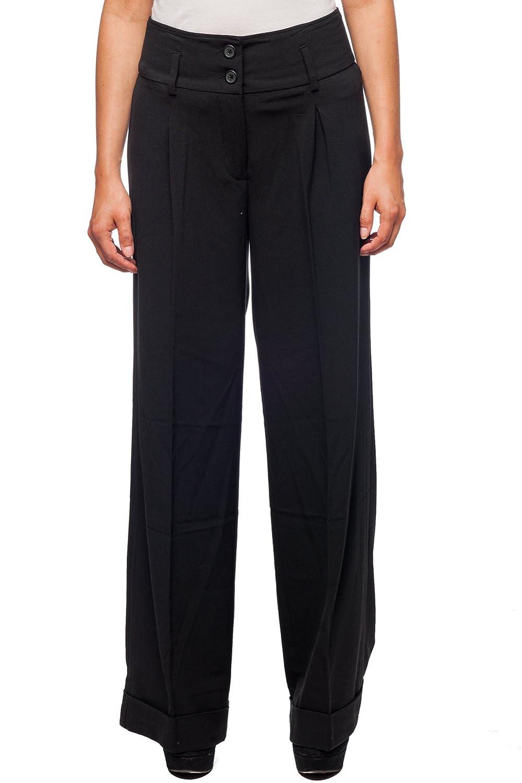 Hanna Gracie Womens Wide Leg Dress Pants Bottom Black US 14