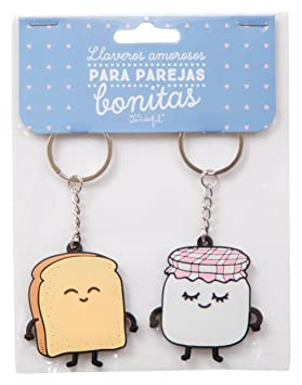 Mr. Wonderful WOA03207 - Pack de 2 llaveros de caucho