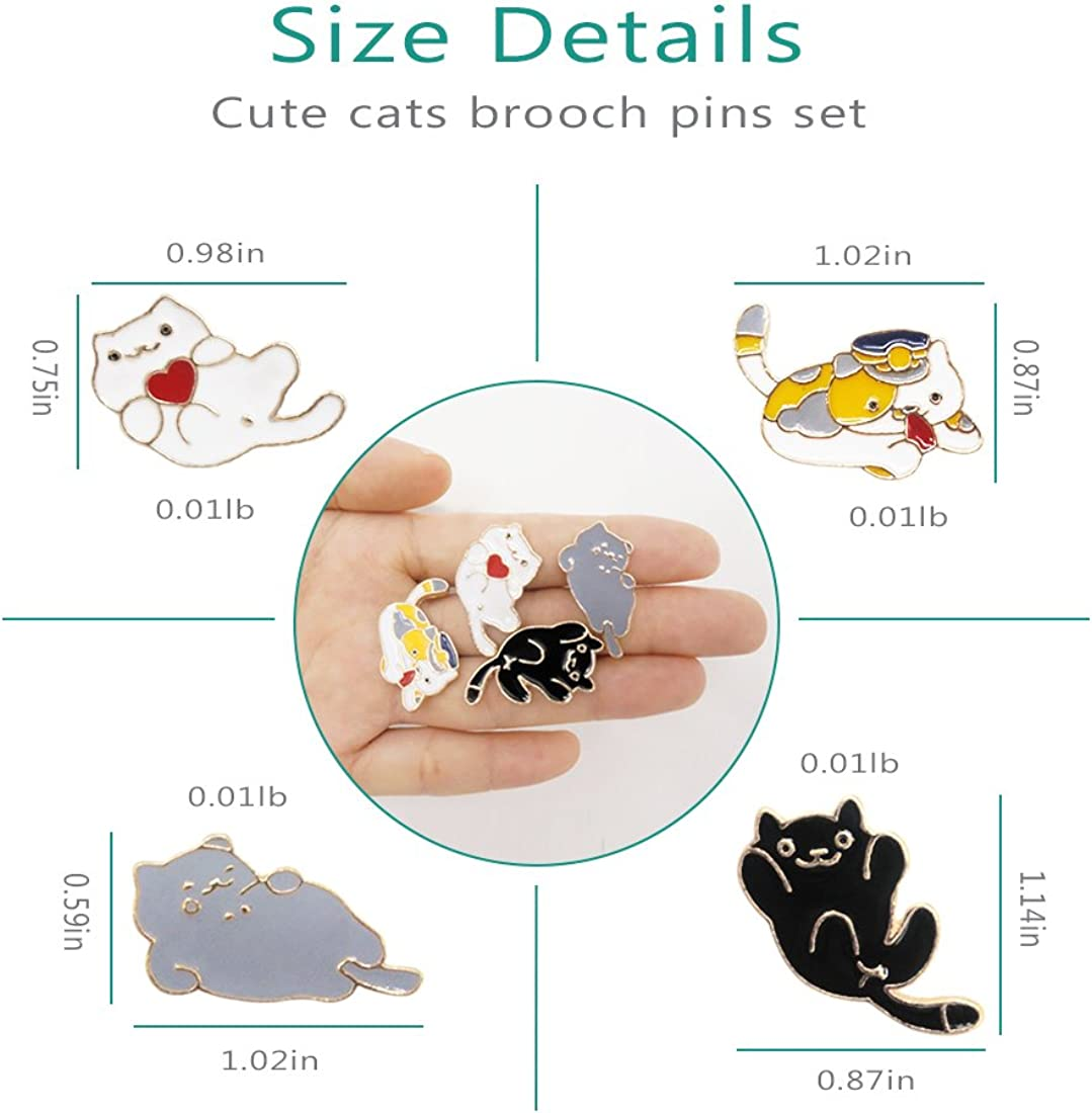 WINZIK Lapel Brooch Pins Set 5pcs Novelty Cute Cartoon Dolphin Whale Pattern Enamel-liked Badges for Children Adults Clothes Bags Decor