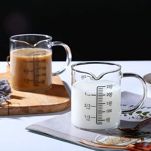 Vidrio plástico Jarro de medición Set 1 taza (500 ml) y pequeñas 1 ...