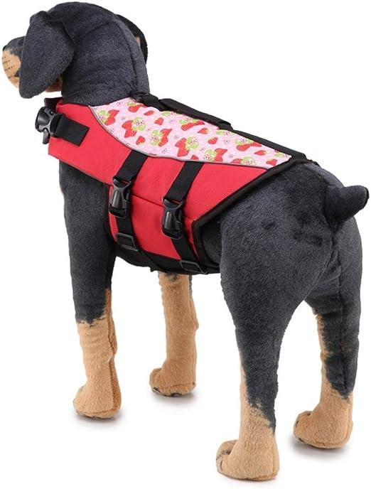 LIJUN Perro de Mascota Chaleco Salvavidas Ropa de Seguridad ...