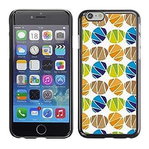 Cubierta de la caja de protección la piel dura para el Apple iPhone 6 (4.7) - egg holiday white pattern
