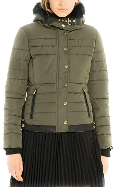 Fracomina Piumino Verde- FR18FP727  Amazon.it  Abbigliamento 6250c69f5f5