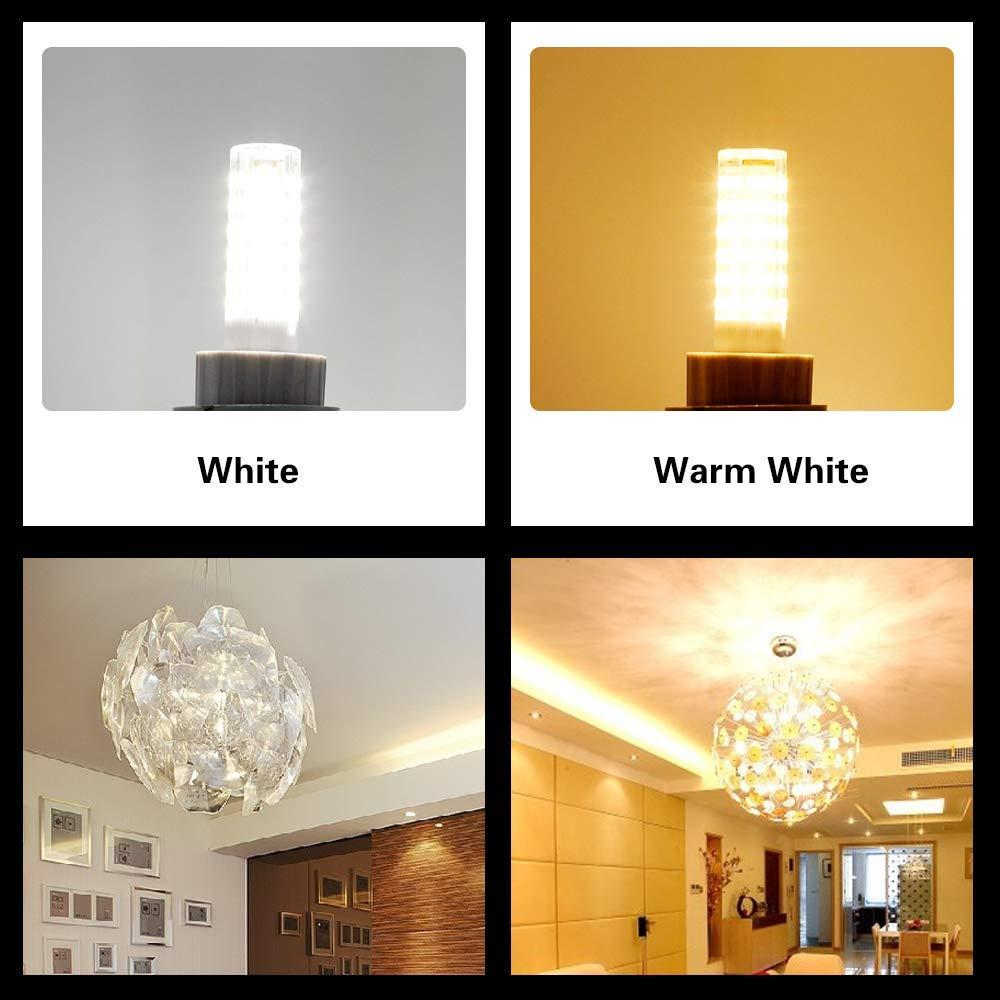 Pack of 4 8W AC110V120V 130V JD E11 Mini Candelabra Base E11 LED Bulb,Dimmable 100W 150W Halogen Bulbs Equivalent 5000K Daylight for Chandeliers Ceiling Fan Light