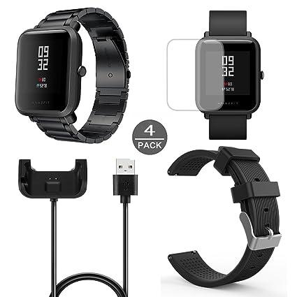Amazon.com: Para Xiaomi Amazfit Bip Band, Lamshaw Acero ...