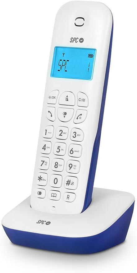 SPC Air teléfono inalámbrico con Agenda e identificación de Llamadas, Azul: Amazon.es: Electrónica
