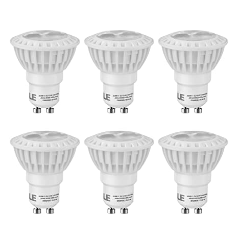 Le 6 pack 5w dimmable gu10 led light bulbs 50w halogen bulbs le 6 pack 5w dimmable gu10 led light bulbs 50w halogen bulbs equivalent 3000k mozeypictures Choice Image