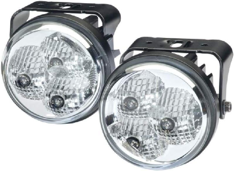 Hella 2pt 009 599 811 Led Tagfahrleuchtensatz 90mm 12 24v Anbau Lichtscheibenfarbe Glasklar Led Lichtfarbe Weiß Links Rechts Auto