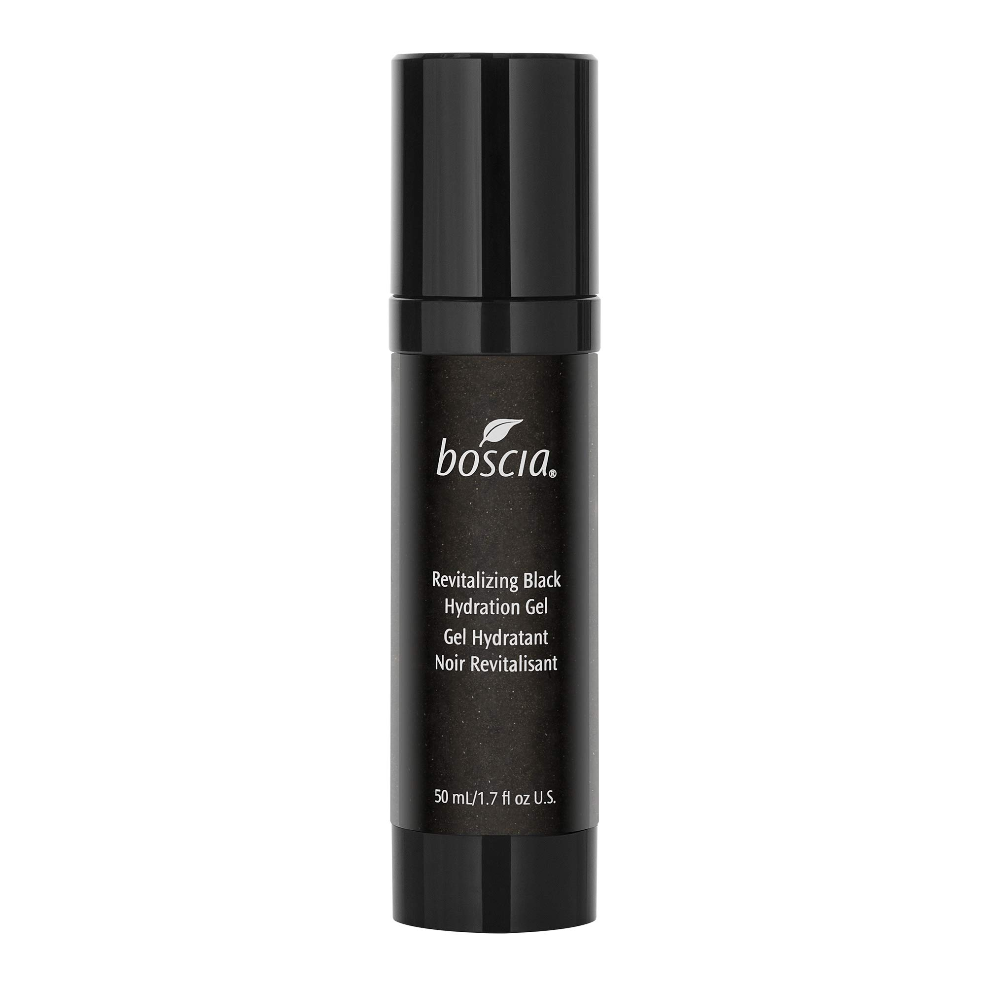 boscia Revitalizing Black Charcoal Hydration Gel - Black Charcoal and Vitamin C Daily Hydration Gel Face Moisturizer, 1.7 Fl Oz