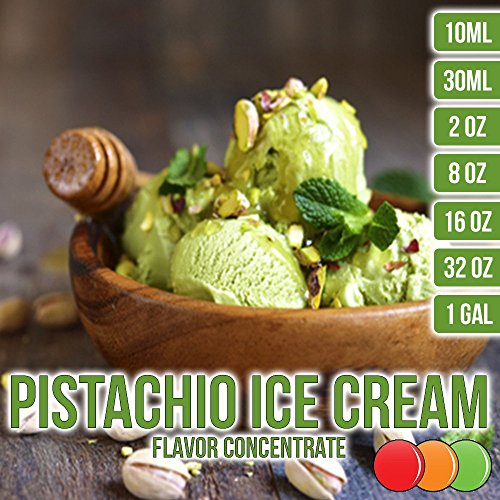 OOOFlavors Pistachio Ice Cream Flavored Liquid Concentrate Unsweetened 10 ml