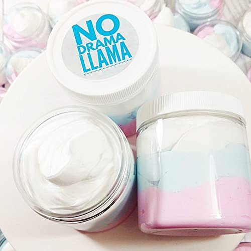 No Drama Llama Whipped Body Butter Lotion Vanilla Birthday Cake Scent Mama Handmade