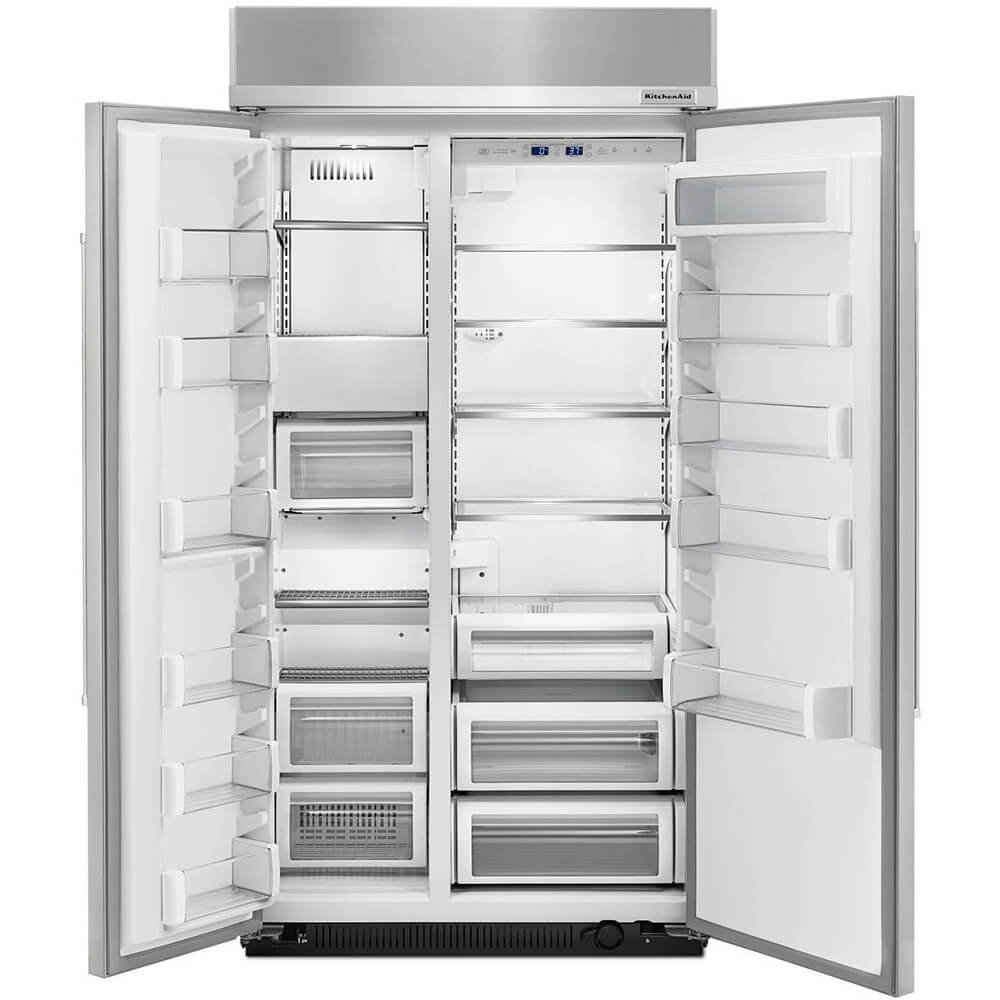ft Built-In Side-by-Side Refrigerator with PrintShield0153 Finish Kitchen Aid KBSN602ESS 25.5 cu