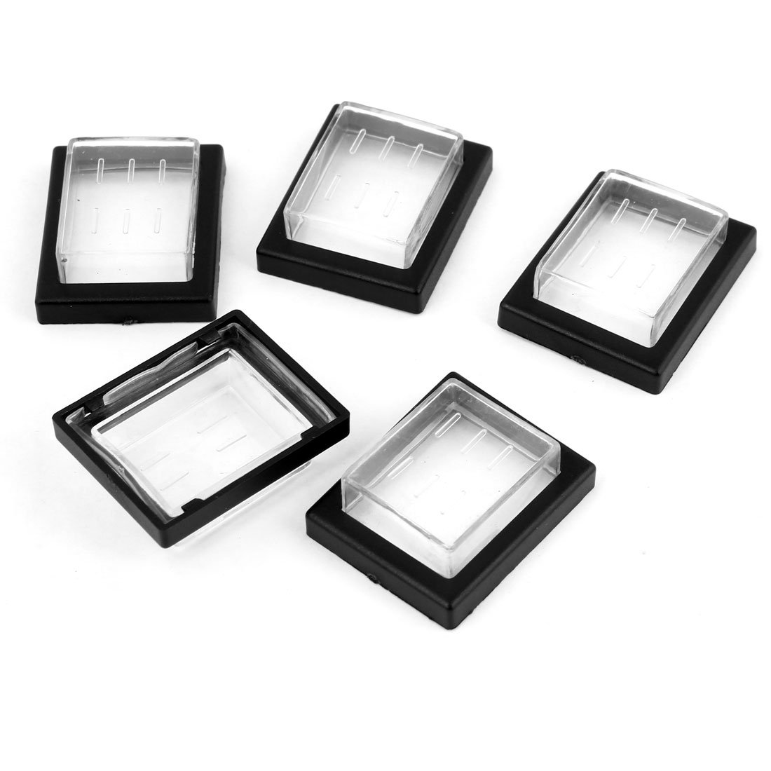 uxcell5 Pcs Rectangle Plastic Waterproof Anti-dust Switch Covers Protectors a13112200ux0221