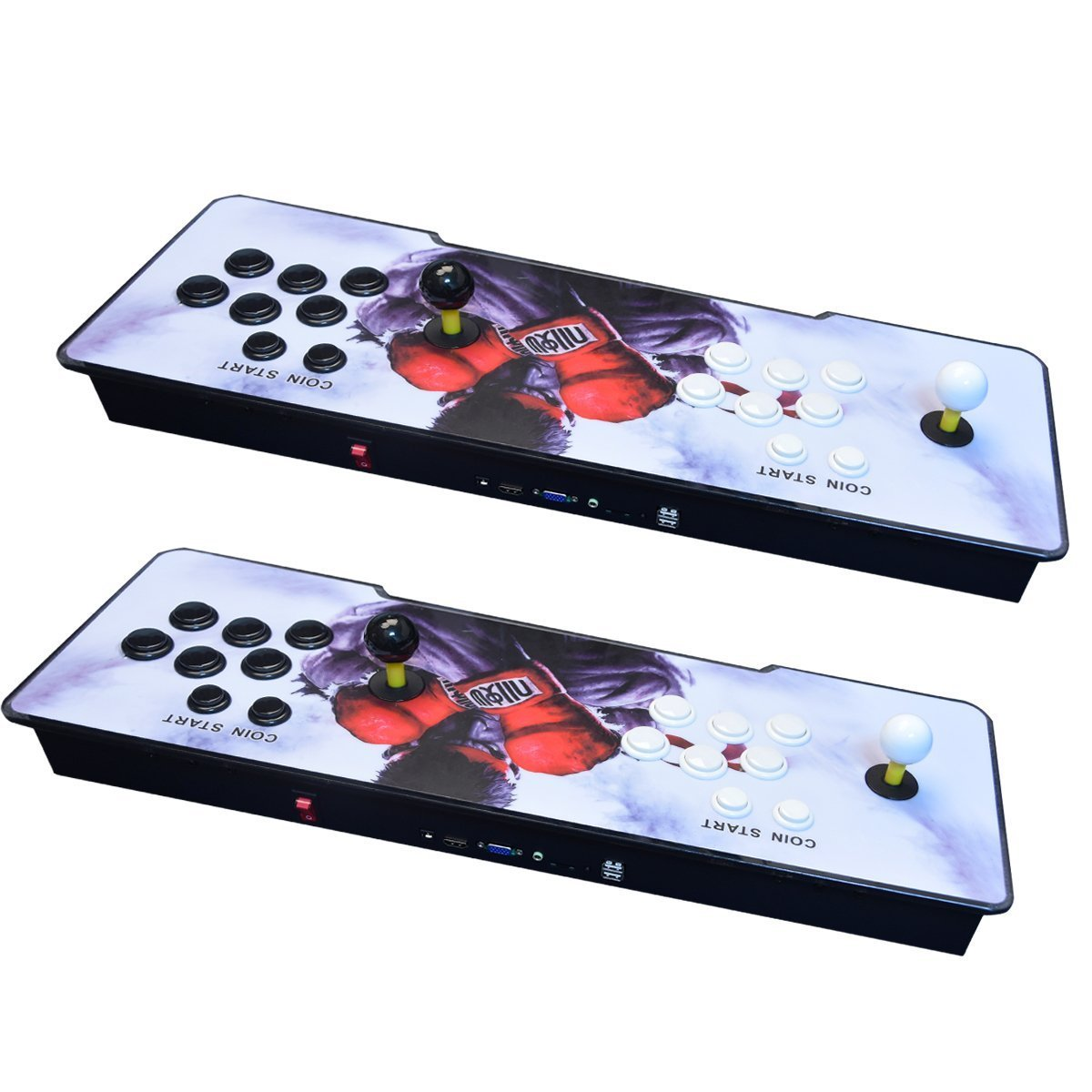 【2400 Games in 1】 Arcade Game Console Ultra Slim Metal Double Stick 2400 Classic Arcade Game Machine 2 Players Pandoras Box 6S 1280X720 Full HD Video Game Console for Computer & Projector & TV by TanDer (Image #5)