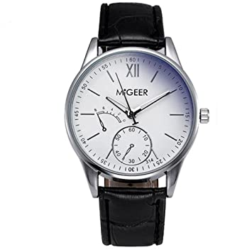 c018e8467048 SKY ♥♥Relojes de pulsera de reloj de moda de moda de lujo de cocodrilo Faux  cuero para hombre (negro)  Amazon.es  Deportes y aire libre