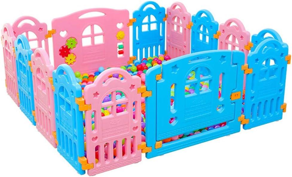 子供用ベビーサークル ロックされたドア付き安全ベビーサークルアンチスキッドベビーベビーサークルキッズ活動センターキッズフェンス幼児ベビープレイフェンス (色 : Color1, サイズ : 155x155x60cm)