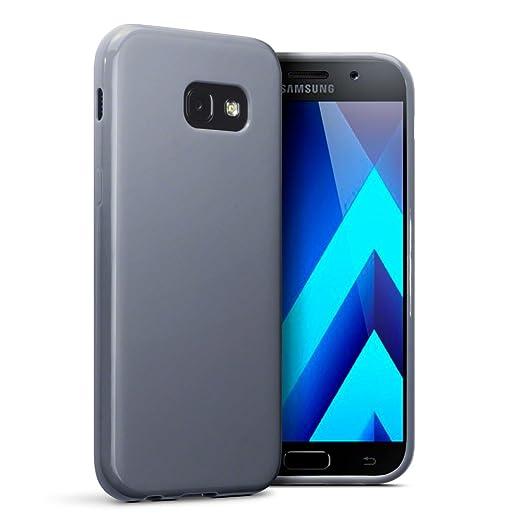 8 opinioni per Terrapin TPU Gel Custodia per Samsung Galaxy A5 2017 Cover, Colore: Opaco Grigio