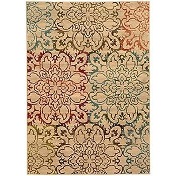 Amazon Com Oriental Weavers Emerson 2205a Area Rug 5 0 X