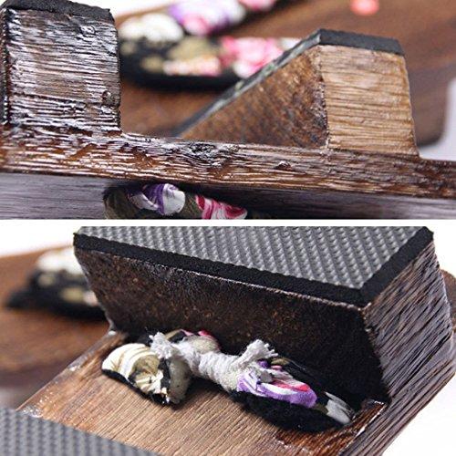 3 Sandal Flip Heel Clog Japanese Geta Jiyaru Wood Flop High Style Women's XzWxBP