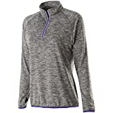 Holloway Sportswear WOMEN'S FORCE TRAINING TOP Women's XS Carbon Heather/Purple