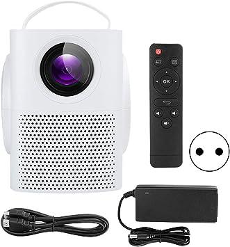 Opinión sobre Proyector de Cine en casa, proyector de sobremesa de Cine en casa portátil de Alta definición Digital LED LCD con Altavoces Dobles y Sonido estéreo(Blanco)