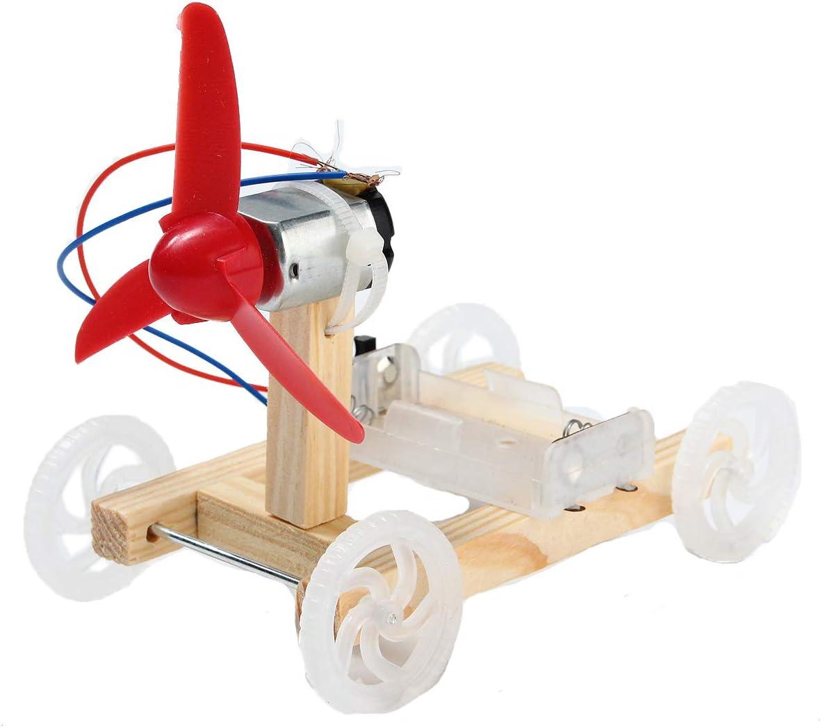 LaDicha 5 Unids DIY Tecnología Invención De Un Solo ala De Coche De Viento Conjunto Modelo DIY Kit De Coche: Amazon.es: Electrónica