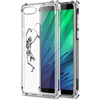 Oihxse Compatible with Xiaomi Mi CC9E/A3 Case Clear [Air Cushion] Shockproof TPU Bumper Back Cover, Ultra Thin Slim Fit Cute Design Soft Silicone Crystal Gel Transparent Phone Shell Skin-Skeleton